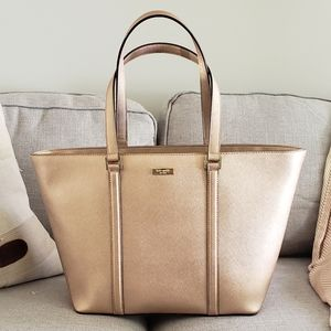 Kate Spade Newbury Tote In Rose Gold